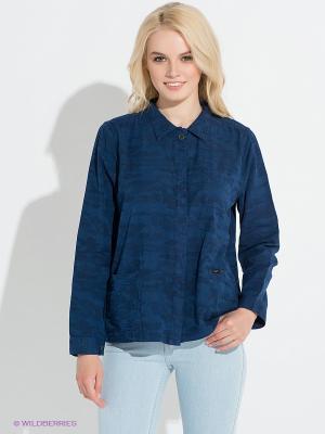 Рубашка LEE. Цвет: темно-синий