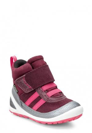 Ботинки BIOM LITE INFANTS BOOT ECCO. Цвет: бордовый