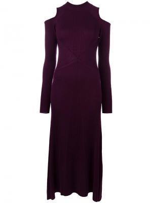 Длинное трикотажное платье Loma. Цвет: розовый и фиолетовый