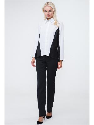 Блуза VICTORIA VEISBRUT. Цвет: белый, серый