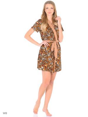 Комплект (Халат и сорочка) Magwear. Цвет: коричневый