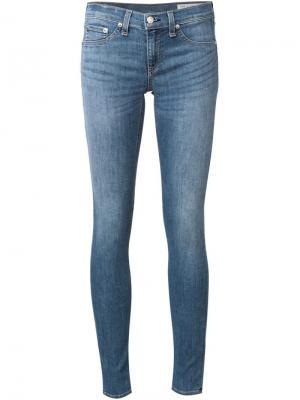 Узкие джинсы Rag & Bone /Jean. Цвет: синий