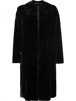 Пальто на молнии 32 Paradis Sprung Frères. Цвет: чёрный