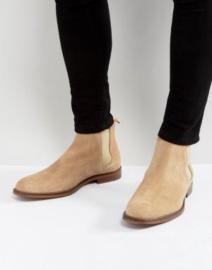 ALDO Светло-серые замшевые ботинки челси Vianello. Цвет: светло-бежевый