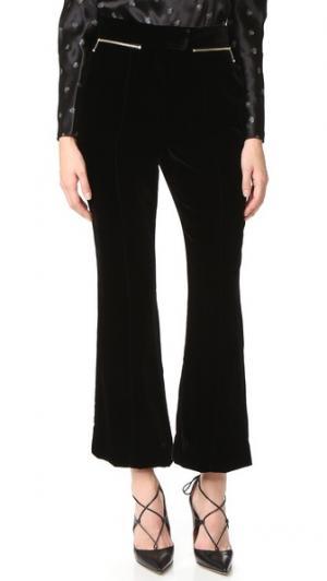 Расклешенные бархатные брюки Nina Ricci. Цвет: голубой