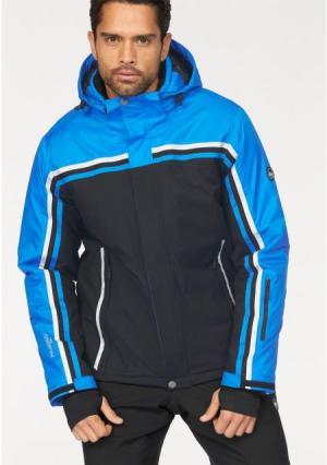 Горнолыжная куртка POLARINO. Цвет: черный/синий