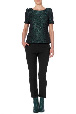 Блуза Apart. Цвет: изумрудный, черный