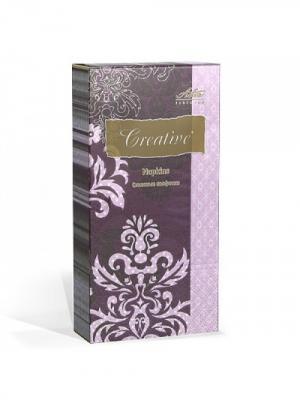 Салфетки Creative Snacks 33х33 см, Арт деко, 3-слойные, 16 шт./уп Aster. Цвет: темно-фиолетовый
