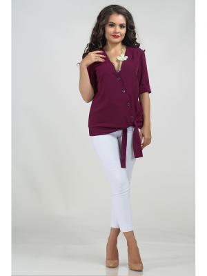 Блузка LIORA. Цвет: темно-бордовый