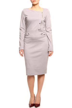 Платье LADY CHARM. Цвет: светло-серый
