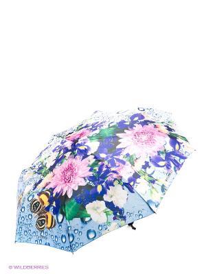 Зонт Flioraj. Цвет: синий, белый, розовый