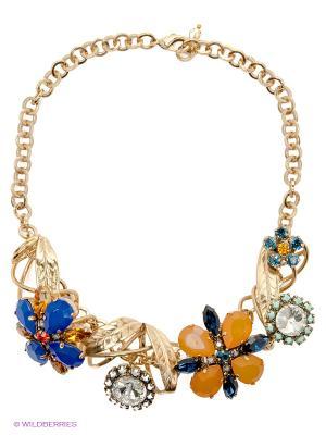 Колье Claudio Canzian. Цвет: золотистый, синий, оранжевый