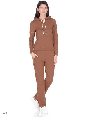 Спортивный костюм FORLIFE. Цвет: коричневый