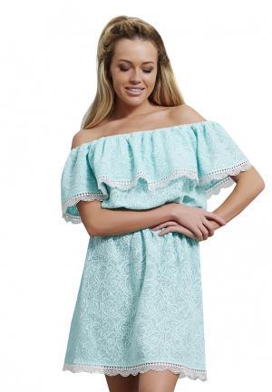 Платье Alex Lu. Цвет: бирюзовый