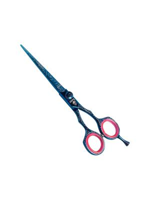 Ножницы парикмахерские Solinberg Stylist 60160, прямые, цветные, выносной винт, съемный упор, 6.. Цвет: темно-синий