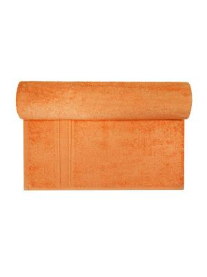 Махровое полотенце оранжевый 50*90-100% хлопок, УзТ-ПМ-112-08-27 Aisha. Цвет: оранжевый