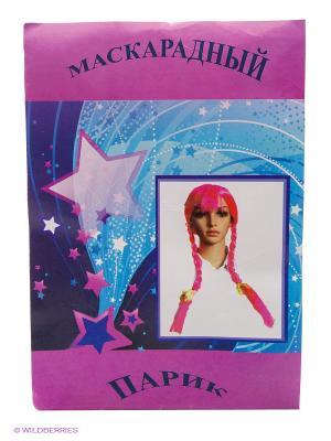 Маскарадный парик Magic Home. Цвет: розовый