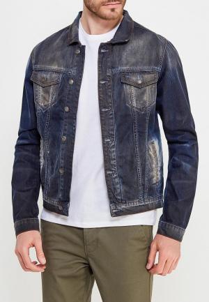 Куртка джинсовая Rerock. Цвет: синий
