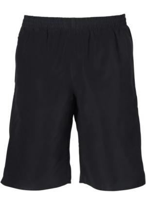 Купальные шорты на эластичном поясе с внутренними завязками (черный) bonprix. Цвет: черный