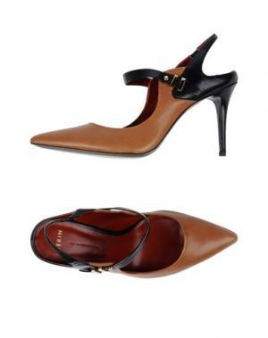 Туфли AERIN. Цвет: коричневый