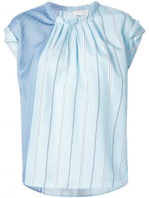 Асимметричная футболка в полоску 3.1 Phillip Lim. Цвет: синий