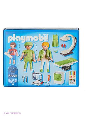 Детская клиника: Рентгеновский кабинет Playmobil. Цвет: белый, салатовый