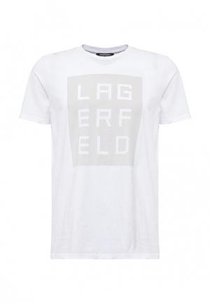 Футболка Lagerfeld. Цвет: белый