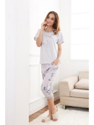 Пижама INDEFINI. Цвет: светло-серый