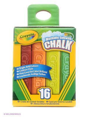 Мел для рисования на асфальте Crayola. Цвет: зеленый, красный, оранжевый, желтый