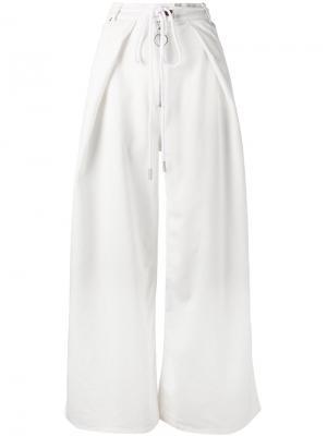 Расклешенные брюки Diagonals Off-White. Цвет: белый