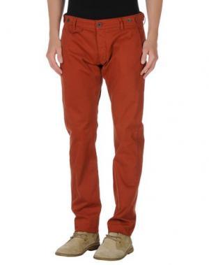 Повседневные брюки TRUE NYC.. Цвет: кирпично-красный
