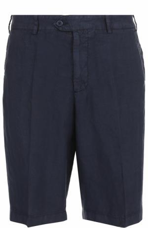 Льняные шорты свободного кроя Paul&Shark. Цвет: темно-синий