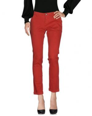 Повседневные брюки RE-HASH. Цвет: красный