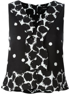 Блузка в горох Proenza Schouler. Цвет: чёрный