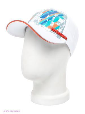 Бейсболка Maxval. Цвет: белый, зеленый, оранжевый, синий