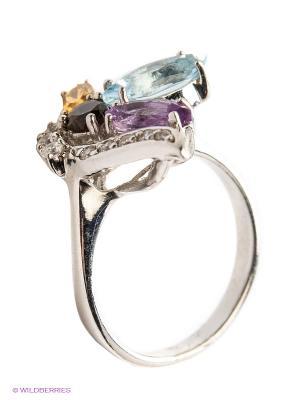 Кольцо Silver Wings. Цвет: серебристый, фиолетовый, коричневый, голубой