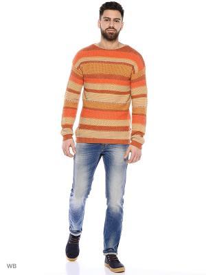 Свитер United Colors of Benetton. Цвет: желтый, оранжевый