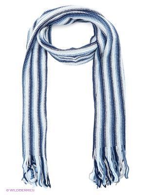 Шарф FOMAS. Цвет: темно-синий, серо-голубой, белый