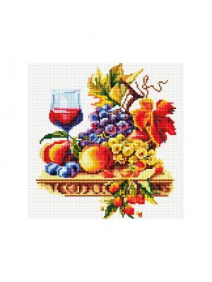Мозаика на подрамнике. Натюрморт с виноградом (355-ST-S ) Белоснежка. Цвет: белый