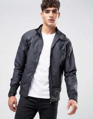 Firetrap Вощеная куртка Харрингтон. Цвет: черный