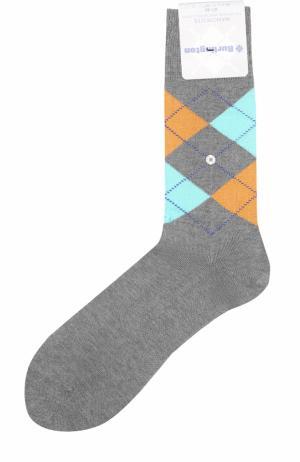 Хлопковые носки Manchester Burlington. Цвет: серый