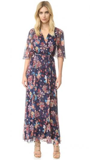 Вечернее платье с расклешенными рукавами Haute Hippie. Цвет: ночи сан-франциско