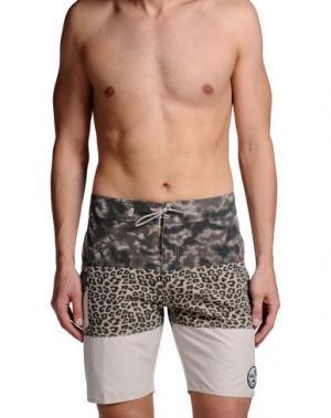 Пляжные брюки и шорты VANS. Цвет: бежевый