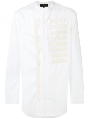 Рубашка с вышивкой Tom Rebl. Цвет: белый