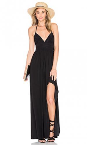 Макси платье ever MISA Los Angeles. Цвет: черный