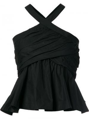 Блузка Babydoll Piamita. Цвет: чёрный