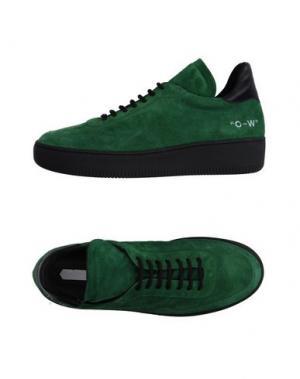 Низкие кеды и кроссовки OFF WHITE c/o VIRGIL ABLOH. Цвет: зеленый