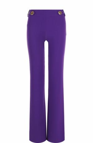 Однотонные расклешенные брюки Emilio Pucci. Цвет: фиолетовый