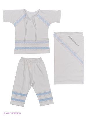 Крестильный комплект для мальчика Лео. Цвет: белый
