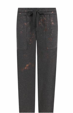 Укороченные брюки прямого кроя с эластичным поясом Deha. Цвет: серый